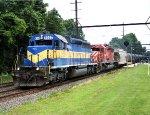 DME 6362, CP 6050 on K469-15 empty ethanol train.